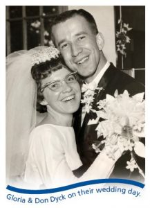 Don and Gloria on their wedding day