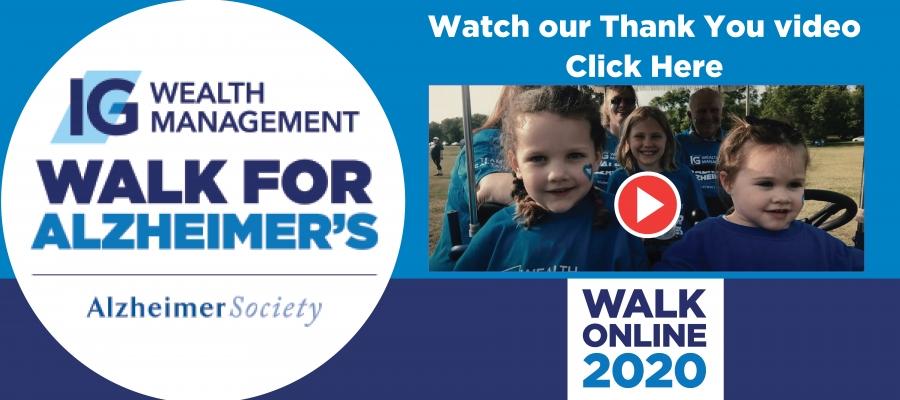 IG Wealth Management Walk For Alzheimer's Online - Thank You Video